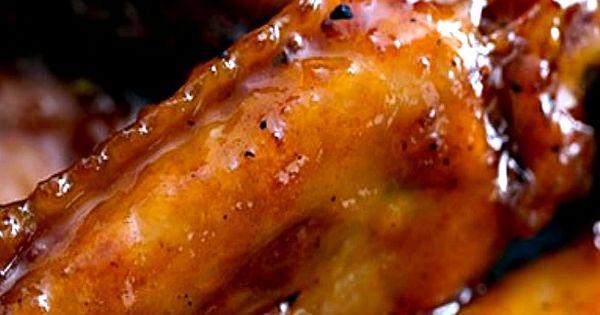 Bourbon Maple Glazed Chicken Wings   Food   Pinterest   Wings, Glazed ...