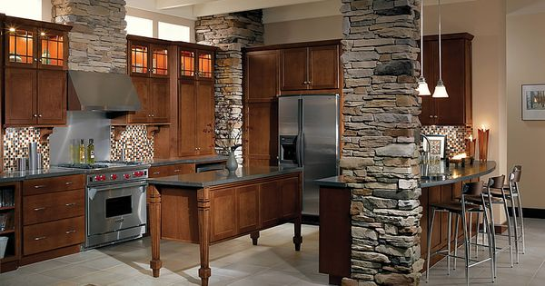 The island is actually 4 wall cabinets put together on for Kitchen cabinets you put together