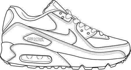 Relacionado filtrar Cilios  Air-Max-90-1.jpg   Sneakers sketch, Sneakers drawing, Shoes drawing