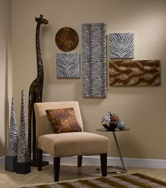 Safari Print Wall Art African Home Decor Safari Living Rooms