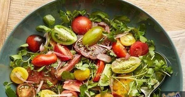 طريقة عمل سلطة الجرجير والطماطم Salad Tomato Recipes Heirloom Tomato Salad