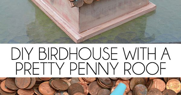 DIY Birdhouse with a Pretty Penny Roof | Copper, The pretty and ...
