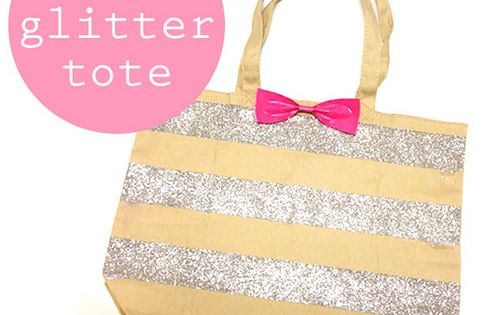 #DIY Glitter Tote Bag w/ diy fashion diy decorating ideas diy diy