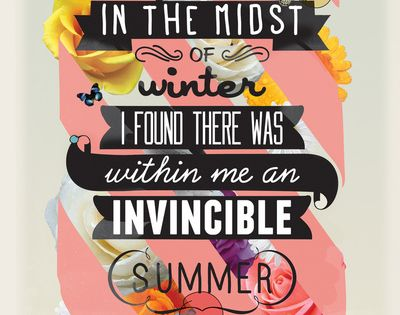 I believe you are an invincible summer girl Jen.