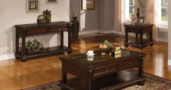 Acme 10322 Anondale Coffee Table Cherry Finish By Acme 450 00 Comes With Cherry Finish Avondale Collection C Coffee Table Furniture Living Room Table Sets