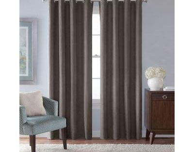 Solaris Faux Suede Room Darkening Window Panel In Grey 54 In W X 95 In L In 2020 Window Panels Home Curtains Curtains 1 Panel
