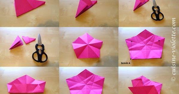 anleitung f r den origami stern steffi pinterest. Black Bedroom Furniture Sets. Home Design Ideas