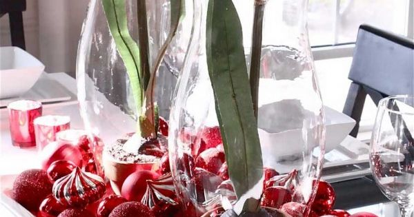 Flores y centros de mesa para navidad manualidades - Centros navidad manualidades ...