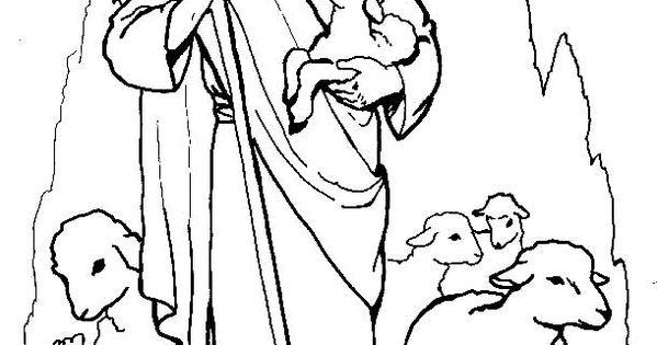 mewarnai mantap djiwa bijbelse kleurplaat de goede herder