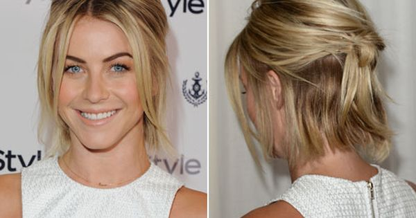 Quince Hairspiration Hot Half Up Styles Short Hair Updo Short Hair Up Julianne Hough Short Hair
