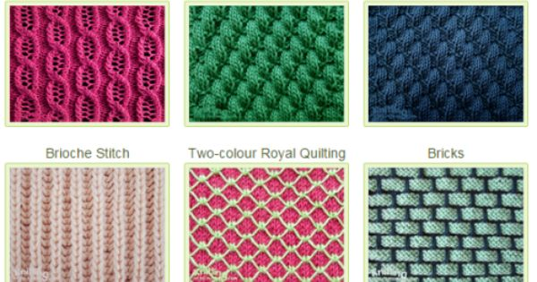 List All Knitting Stitches : List of beautiful stitch patterns to use in everyday projects Knitting Stit...