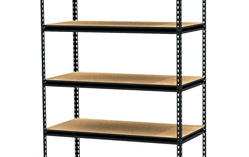 King S Rack 5 Layer Black Steel Storage Rack Boltless Shelving Unit Tier Layer Height Adjustable Shelf Organi Shelving Metal Shelving Units Steel Shelving Unit