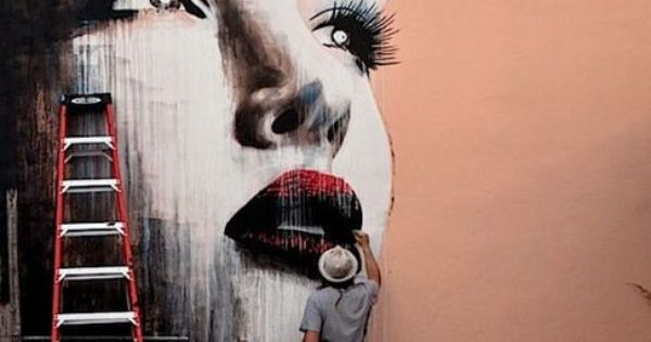 #Melbourne street artist Rone's mural in Miami - renowned for his stylized