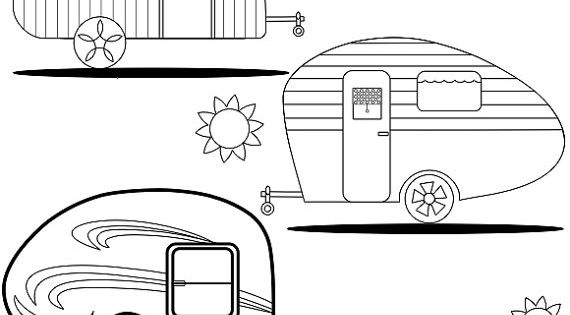 Adult Coloring Page Teardrop Trailers