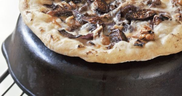 Fig, Taleggio, And Radicchio Pizza Recipe — Dishmaps