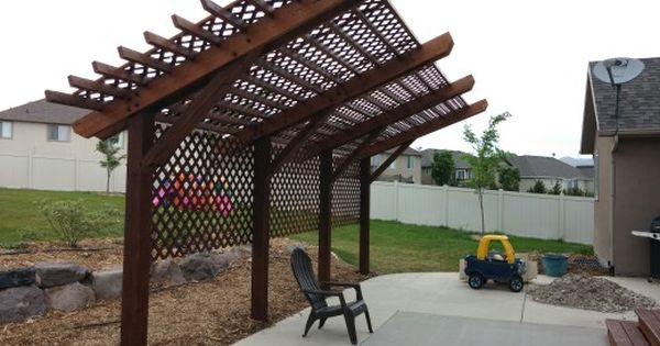 Here S The Cantilevered Ish Pergola We Ended Up Building