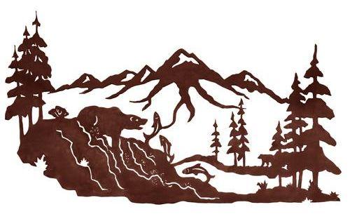 New Black Bear Wildlife Decor Animal Polished Raw Metal Art Sign tree