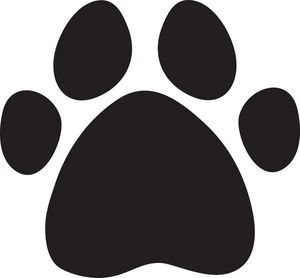paw print clipart image - a black cartoon dog print | paw print clip art, dog  print, black cartoon  pinterest