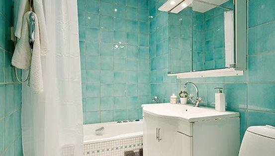 Aqua bathroom design small bathroom design similar for Accesorios bano turquesa
