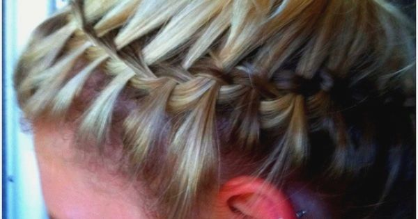 french braid headband.. It's like a waterfall braid but it goes back