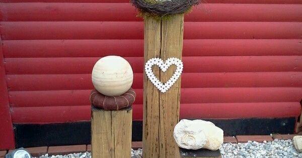 Gartendeko Mit Holzbalken Dekoration Pinterest