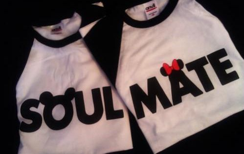 Disney Mickey and Minnie Mouse Soul Mate T Shirts