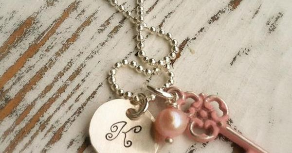 Personalized Initial Necklace with Vintage by ShayDesignsJewelry, $28.00