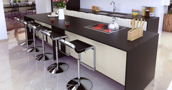 prolonger l g rement votre plan de travail pour cr er un espace bar et coin repas dans votre. Black Bedroom Furniture Sets. Home Design Ideas