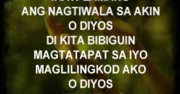 Ikaw Lamang Christian Song Youtube With Images Christian