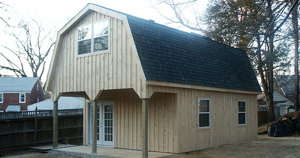 Stick homes plans pole barn style roof 18 39 x30 39 custom barn with gambrel roof and 6 39 porch - Gambrel pole barns style ...