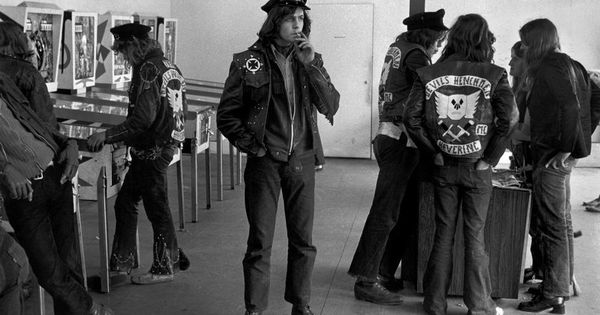 Members Of The Devils Henchmen Motorcycle Club In An
