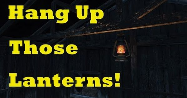 How To Hang Up Lanterns Fallout 4 Tips Tricks Youtube Fallout 4 Tips Fallout Hung Up