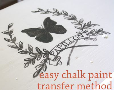 Image transfers for chalk painted furniture | The Graphics Fairy