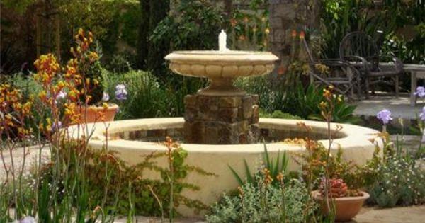 Large Garden Fountain Costa Mesa Ca Garden In The Woods Garden Design Water Features In The Garden