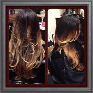 Trendy Hair Style Ombre Fade Hair Color Black To Blonde Dark