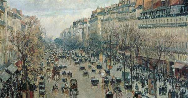titre de l 39 image camille pissarro le boulevard montmartre paris paris au xix me si cle. Black Bedroom Furniture Sets. Home Design Ideas