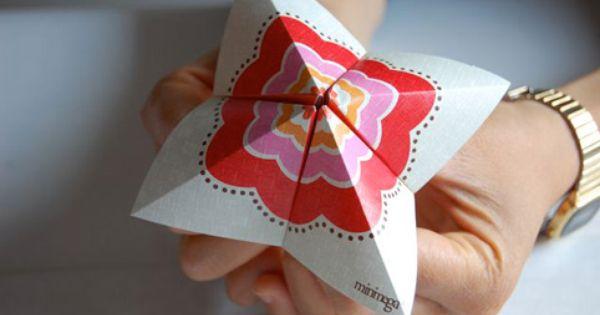 DIY / Gratis downloads Minimega Design Studio - Super Cootie Catcher!