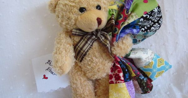Burden Bear With Handmade Quilt And Poem Plush By