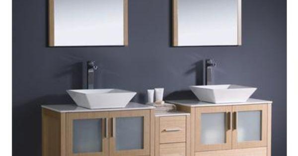 Fresca torino meuble lavabo de salle de bains moderne 72 for Armoire de salle de bain moderne
