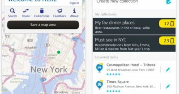 nokia maps tracking feature group b
