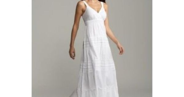 White linen dresses casual beach long white maxi summer for White linen dress for beach wedding