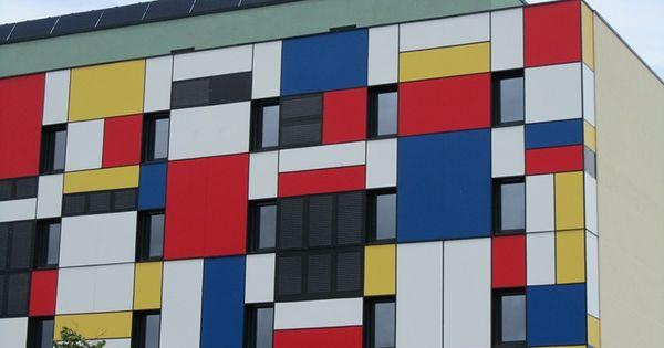 Mondrian style building for Bauhaus replica deutschland