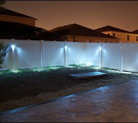 Add Safety And Security To Your Yard With Our Easy To Install Led Fence Lighting Kits Options Include Kits In 2020 Fence Lighting Solar Fence Lights Outdoor Lighting