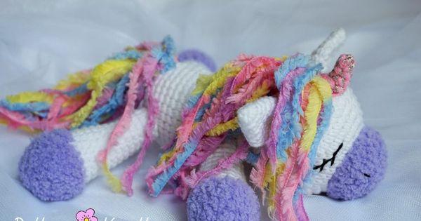 Pequeno Pony Amigurumi Patron : Sleeping unicorn pony crochet pattern free amigurumi ...