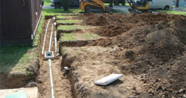 Example Of Trenches With A Distribution Box Serving Each Trench Equal Flow Crib Wall Installation Grease