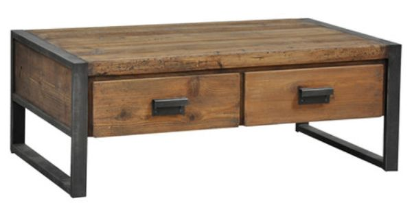 Featuring A Rustic Mission Style Silhouette This Distressed Coffee Table Is Highlighted By