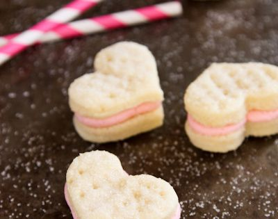 Strawberry buttercream, Sandwich cookies and Sandwiches on Pinterest
