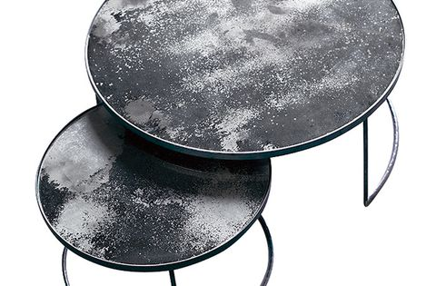 Notre Monde Heavy Aged Coffee Table Set Table Basse Le Monde