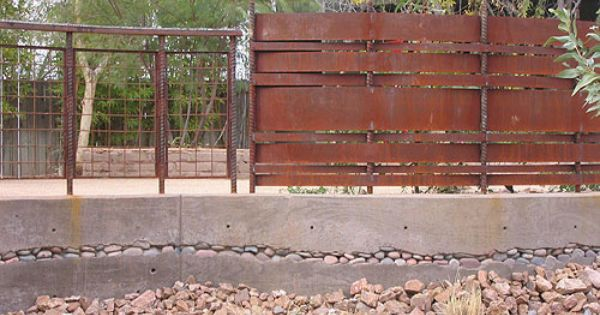 Woven Steel Fence Or Screenwall Metal Fence Fence Fence Design