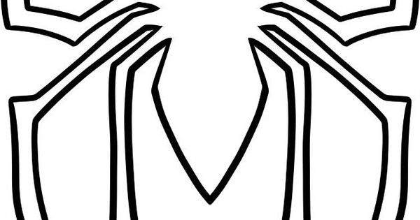 coloring pages spiderman easy symbol - photo#7